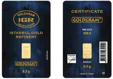 1/2 Gram IGR Mint 999.9 Gold Bar Sealed with Assay Certificate 24 Karat