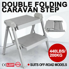 Double Folding Caravan Step Portable RV Accessories Ladder Camper Trailer Parts