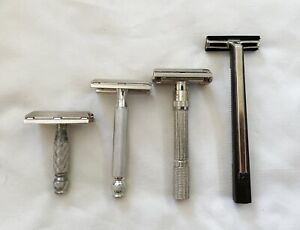 Lot of 4 Vintage Gillette Razors, 1964 to 1971.