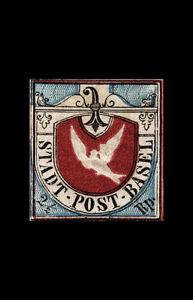 Encadré Imprimé - Basel Colombe Tampon 1845 ( Image Affiche Art Collecteur