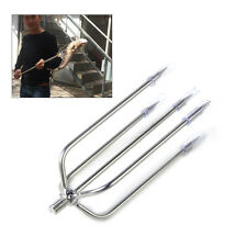 5-Prong Stainless Steel Fishing Fish Frog  Eel Salmon Barbed Gig Spear Gun Gig