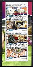 Chats Togo (33) série complète de 4 timbres oblitérés
