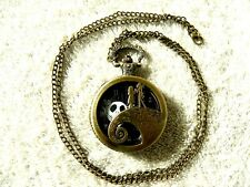 Nightmare Before Christmas Circle Steampunk Pocket Watch Necklace- New Condition