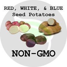 RED, WHITE, & BLUE (MIXED) Certified Seed Potatoes - Non-GMO Heirloom Tuber Spud