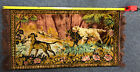 42x21 Inch Vintage Oriental Runner Rug With Dogs