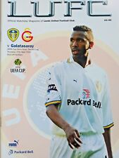 Leeds United v Galatasaray 20/4/2000 Uefa Cup Semi Final 2nd Leg. MINT CONDITION