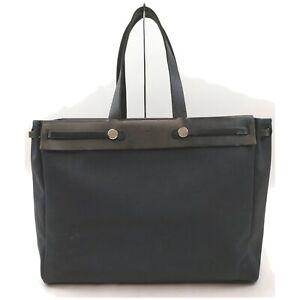 Hermes Tote Bag  Black Canvas 841223