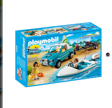 Playmobil Pick up con Lancha Pick Up Van with launch Summer fun 6864