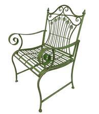 Gartenstuhl Eisen Stühle Grün Antikstil Armlehnstuhl Gartenmöbel Gartensessel