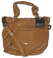 NWT B. Makowsky Lizard Embossed Leather Convertible Tote, Vachetta