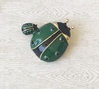 Vintage  style Ladybug  brooch enamel on metal.
