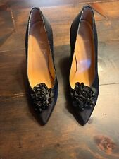 Vintage Paloma Heels Black Made In Italy Size 5.5