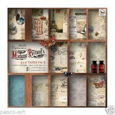 "Papermania 6x6"" scrapbooking paper pack Madame Payraud 32 sheet 16 designs 160gm"