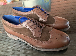 """Ralph Lauren Brown Oxford Women's """"IMOGEN"""" Leather Shoes Size 9- VERY NICE"""