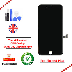 For Apple iPhone 8 Plus Black Digitizer Touch Screen Assembly LCD Replacement