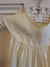 Vintage Baby Girl Pale Yellow Emboidered Dress Size 0?🍃