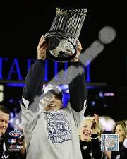 2009 New York Yankees Manager Joe Girardi with World Series Trophy 8 X 10 Photo