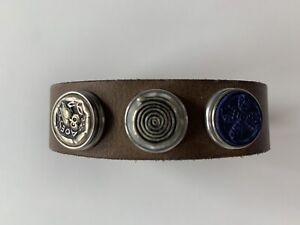 NOOSA Amsterdam ORIGINAL Armband Grau - mit 3 Chunks Leder