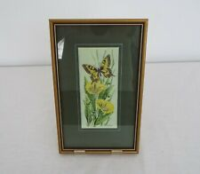 Cash's Woven silk picture - Swallowtail Butterfly - Framed