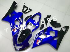 For GSXR600 GSXR750 2004 2005 ABS Injection Mold Bodywork Fairing Kit Blue Black