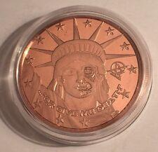 "2016 1 OZ ""LIBERTY OR GIVE ME DEATH""  999.0 Pure Copper Bullion Coin/token Capsl"
