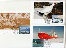 Russia 2007 International Polar Year Maxi Cards set 3 with stamp on it FD cancel