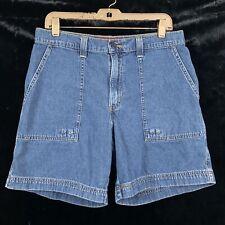 Levis 12 Jean Shorts High Rise Dark Wash Large Pockets Womens