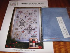 ROSEWOOD MANOR WINTER QUAKERS CROSS STITCH CHART & CASHEL LINEN PREORDER