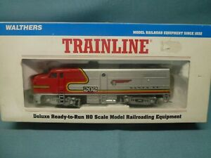WALTHERS 'HO' F7 DIESEL LOCO 'SANTA FE' 202 IN SILVER+RED ~ BOXED