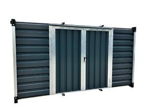 Blechcontainer, Lagercontainer, Doppelflügeltür Seitlich, Pulverbeschichtet GRAU