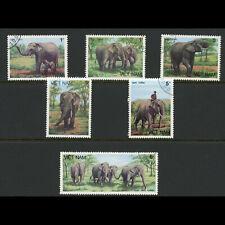 VIETNAM 1986 Elephants. SG 1043-1048. Fine Used. (WD253)