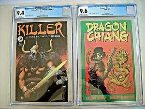 Eclipse Comics KILLER #1 CGC 9.4 NM & DRAGON CHIANG 9.6 NM+ White Pages
