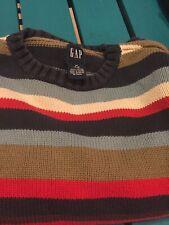 Gap Boys Size 7-8 Striped Crew Sweater