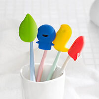 4pcs/Set Cute Cartoon Travel Silicone Toothbrush Holder Toothbrush Head Cover