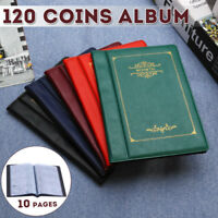 120 Coins 5 Colors Holders Collecting Collection Storage Money Penny Album Book