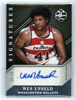 2015-16 WES UNSELD 20/25 AUTO PANINI LIMITED SIGNATURES AUTOGRAPHS