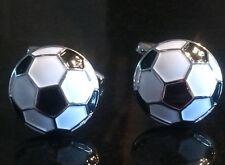 White Football Cufflinks Premier Soccer Cufflinks Free Presentation Gift Pouch