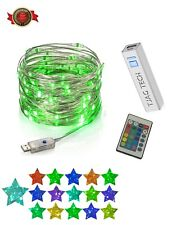 USB Color Changing Fairy Lights | LED Twinkle String Light + Remote | Waterproof