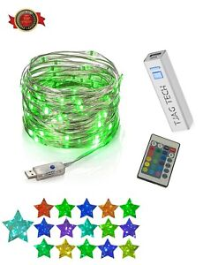 USB Color Changing Fairy Lights   LED Twinkle String Light + Remote   Waterproof