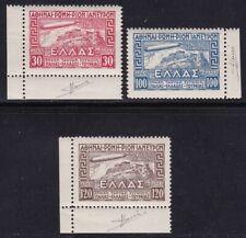 1933 GRECIA/GREECE, Posta Aerea 5/7  Zeppelin set of 3 MNH/** BORDO O ANGOLO ...