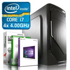 Intel Core i7 4790 Computer Business PC • 32GB • 512GB SSD 2000GB HDD Windows 10