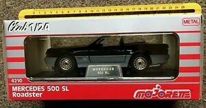 VINTAGE MERCEDES 500SL by.MAJORETTE.1:24 SCALE,1989/90,with boxes,N.O.S.MINT