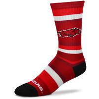 For Bare Feet Arkansas Razorbacks Rainbow Stripe Crew Socks