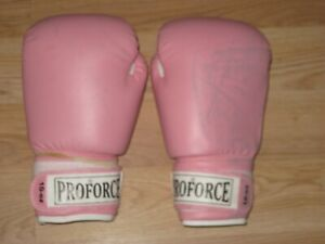 Pro Force Ladies 10 Ounce Pink Karate/MMA/Boxing Gloves/Free Shipping!