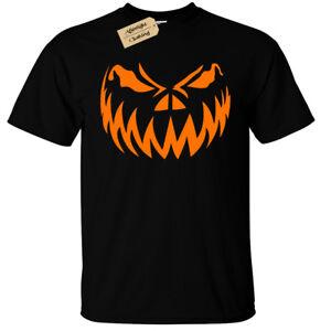 Kids Boys Girls PUMPKIN FACE T-Shirt Halloween jack o lantern
