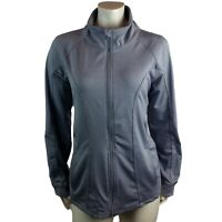 90 Degree By Reflex Gray Athletic Sport Jacket Women's Full Zip Stretchy Size XL