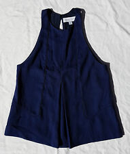 AS NEW Size XS Finders Keepers Navy Blue Top Blouse Singlet Tank Keyhole A Line