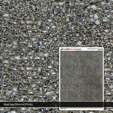 5 x SHEETS FLINT STONE BRICK WALL PAPER OO GAUGE 1:76 MODEL RAILWAY TX197-OO