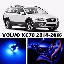 10pcs LED Blue Light Interior Package Kit for VOLVO XC70 2014-2016