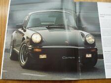 BEAUTIFUL 1987 PORSCHE 911 CARRERA & 911 TURBO PRESTIGE UK MARKET BROCHURE